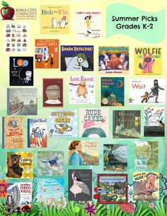 2016 list of great summer reads for Kindergarten through 2nd graders, selected by Teacher Librarians in the Iowa City Community School District. See the details here: https://www.goodreads.com/review/list/55732582-iccsd-teacher-librarians?shelf=great-summer-reads-for-k-2-2016&view=covers