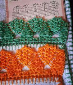 Star Stitch Baby Blanket and Hat pattern by Olga Poltava Crochet Baby Dress Pattern, Crochet Motif Patterns, Crochet Lace Edging, Crochet Borders, Lace Patterns, Crochet Trim, Filet Crochet, Diy Crochet, Crochet Stitches