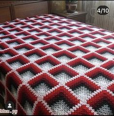 Crochet Circle Pattern, Granny Pattern, Crochet Circles, Crochet Blocks, Crochet Squares, Crochet Blanket Patterns, Baby Blanket Crochet, Knitting Patterns, American Flag Blanket