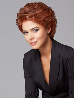 Short hairstyles for curly hair, for oval faces