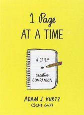 1 Page at a Time : A Daily Creative Companion by Adam J. Kurtz Paperback) for sale online Journal Prompts, Writing Prompts, Journal Art, Journal Topics, Scrapbook Journal, Start Writing, Journal Entries, Writing Help, Bujo