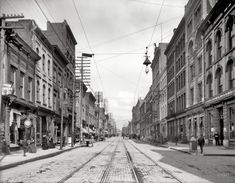 """Knoxville, Tennessee, circa 1903. """"Gay Street."""" 8x10 inch dry plate glass negative, Detroit Publishing Company."""