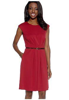 Maggy London Cap Sleeve Belted Dress #belk #color