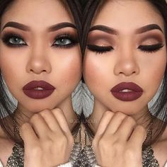 Image result for prom makeup wine dress