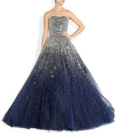This dark blue dress looks like the night sky!!! Love it!!!