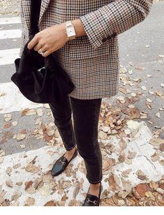 Plaid blazer and vintage accessories   Inspiring Ladies