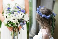 Anemones and Muscari
