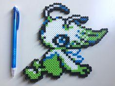 Celebi Pokemon perler beads by TinyDoctorCrafts