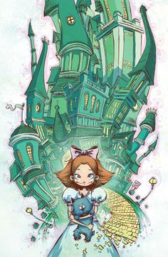 Emerald City of OZ #1 cover by Skottie Young from http://skottieyoung.tumblr.com/post/47549368109/emerald-city-of-oz-1-cover