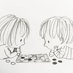 #doodleoftheday #draughts #checkers ✏️ Sweet Drawings, Doodle Drawings, Cartoon Drawings, Easy Drawings, Doodle Art, Drawing For Kids, Line Drawing, Children's Book Illustration, Illustrations