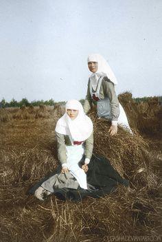 Tatiana and Olga by olgasha.deviantart.com on @deviantART Grand Duchesses Tatiana and Olga as nurses.