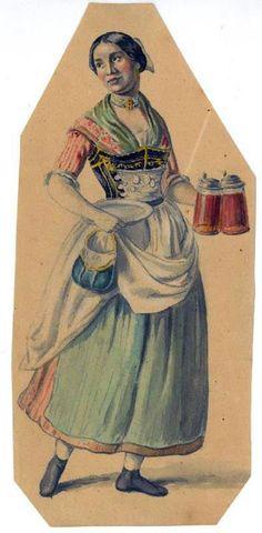 Münchner Kellnerin, 1851 (Quelle: Bayerisch ist Cool! auf FB)