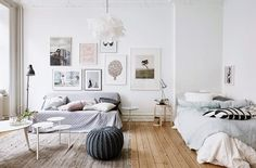 Ideas para decorar la pared del sofá - http://www.decoora.com/ideas-para-decorar-la-pared-del-sofa/