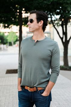473da69e9c the miller affect husband wearing an olive henley from the nsale Nordstrom  Anniversary Sale