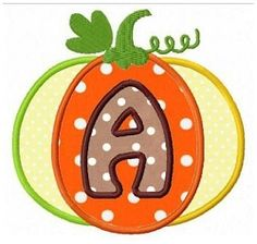 Pumpkin Applique Letters - 4x4 | What's New | Machine Embroidery Designs | SWAKembroidery.com Fun Stitch