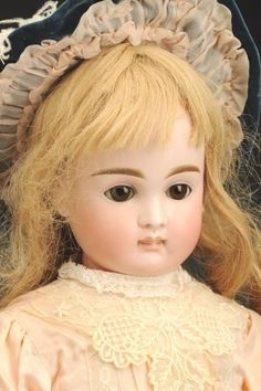 September 21 Doll Auction: Lot # 162 | Beautiful Early Kestner Child Doll #MorphyAuctions Antique Dolls, Vintage Dolls, September 21, Child Doll, Madame Alexander, Collector Dolls, French Fashion, Beautiful Dolls, Big Kids
