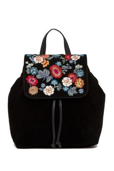 Lucky Brand Super Bloom Floral Embroidered Suede Backpack handbag brands, ladies bags satchels purses and handbags fashion bags discount designer handbags bags and purses bag shop replica bags #handbags #ladiesbags #satchels #purses