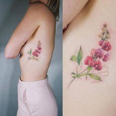 99 Girly Tattoos to Consider for 2017 Side Boob Tattoo, Flower Tattoo On Ribs, Side Tattoos, Back Tattoo, Angle Tattoo, Swing Tattoo, Girly Tattoos, Mom Tattoos, Body Art Tattoos