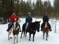 winter-horseback riding