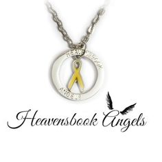 Childhood Cancer Awareness Halo Necklace | The Grief Toolbox