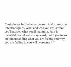 What you are is what you attract.