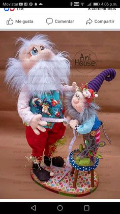 Christmas Elf, Christmas Crafts, Elves, Fun Crafts, Santa, Mary, Teddy Bear, Dolls, Papa Noel