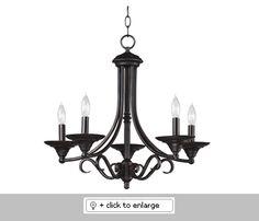 91385BRZ Hamilton Chandelier  Item# 91385Hamilton  Regular price: $180.00  Sale price: $153.00