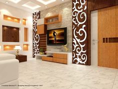 Wall design: Creative highlights Wall design lcd wall design, ceiling design, siling decoration, wall units for tv, modern BOTDSXV Lcd Wall Design, False Ceiling Design, Lcd Unit Design, Partition Design, Roof Design, House Design, Tv Wanddekor, Modern Tv Wall Units, Woodworking Plans