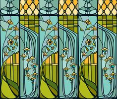 Stained Glass Windows fabric by cecilia_mok on Spoonflower - custom fabric