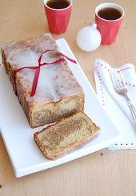 marbled gingerbread almond loaf cake...sounds sooo good