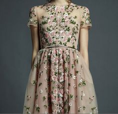 How pretty would all-over ribbon embroidery be on a wedding dress?!  Valentino Resort 2013