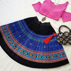 "Brand new Fair trade handmade Ethnic Pleated Skirt Stunning circle skirt! Elastic waist band, One size fits XS-M. NWOT. Length: 18.9"" Skirts Circle & Skater"