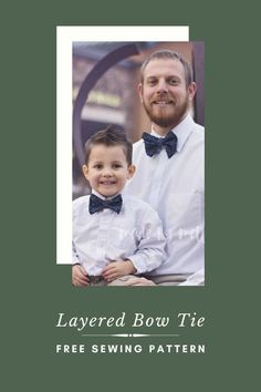 FREE sewing pattern for a Layered Bow Tie. The creative designer has very generously given us all this pattern for FREE and has not just made the pattern in babies and in kids sizes but also in adult sizes as well. So all the males of the family can have one, from baby all the way up to Granddad. These fabulous little bow ties are pretty quick and easy to make. You only need a very small amount of fabric to make each one, and they'll make a great gift for all the stylish guys that you know! Sewing For Kids, Free Sewing, Mens Sewing Patterns, Made For Mermaids, Free Pattern Download, Little Bow, Modern Kids, Bow Ties, Toddler Outfits