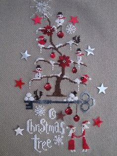 Christmas - x-stitch - creakath: O christmas tree Cross Stitch Christmas Ornaments, Xmas Cross Stitch, Cross Stitch Kits, Christmas Cross, Cross Stitch Charts, Cross Stitch Designs, Cross Stitching, Cross Stitch Embroidery, Hand Embroidery