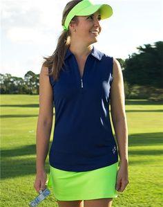 Jofit Sleeveless Performance Polo Blue Depth | #Golf4Her #Golf #GolfClothes