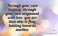 Through your own healing, through your own alignment with love, you are then able to flow healing towards another. Spiritual Guidance, Spiritual Awakening, Spiritual Quotes, Christian Prayers, Reiki Energy, How To Stay Awake, Mind Body Soul, Love And Light, Cool Words