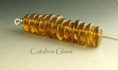 12 Gold Dust Disks by Catalina Glass by catalinaglass on Etsy, $28.00