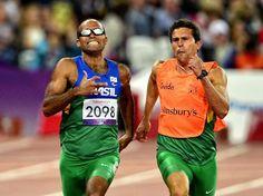 Daniel Silva - dobradinha brasileira, com a medalha de prata por uma diferença de 0s02 -atletismo - Foto: Fernando Borges/Terra