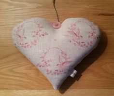 Peony and Sage Birdsong Organic Lavender Heart. Hand sewn by Cwtches Crafts.