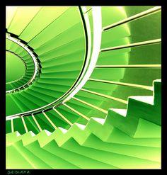 lemon green #staircases