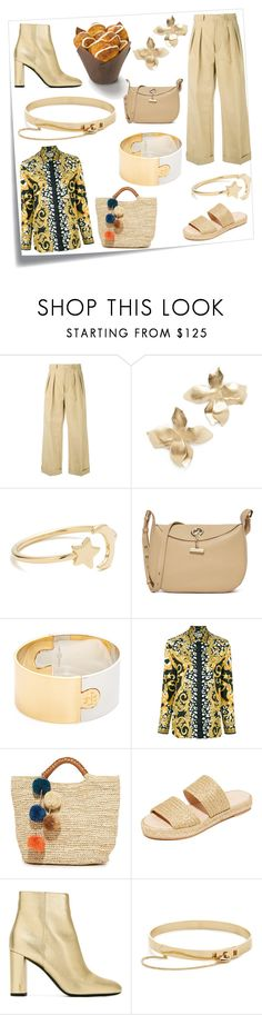 """""""Fashion forever"""" by ramakumari ❤ liked on Polyvore featuring Post-It, CristaSeya, Elizabeth and James, Ariel Gordon, Botkier, Tory Burch, Versace, Kayu, Carmelinas and Yves Saint Laurent"""