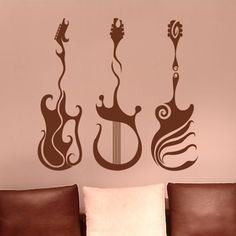 guitar wall decals for Al's music room