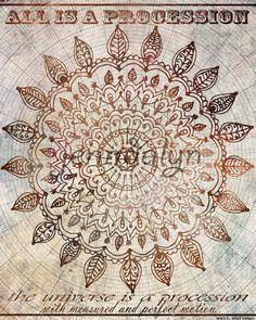 Perfect Motion  PAPER PRINT sun mandala bohemian  by Jenndalyn, $18.00