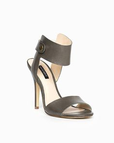 The Kate - Reach new heights in these ankle cuff, open toe sandals. Go classic in black, sexy in nude, sophisticated in olive - in any hue, these trend-topping heels make any ensemble complete.