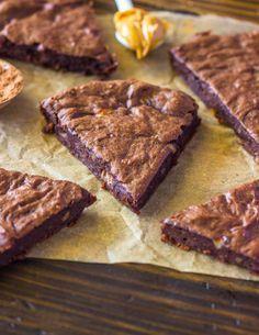 4 Ingredient Fudge Protein Brownies (Vegan, Gluten-free, Paleo) | Gimme Delicious