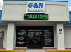 G & H Tires and Service is conveniently located at 10221 Beach Blvd in Jacksonville, Florida. We are a full-service tire sales and service facility that also specializes in automotive repairs. Our convenient location allows us to serve the communities of Jacksonville, Jacksonville Beach and Sandalwood with ease. Our tire customers have the ability to choose from some of the most well-known tire brands, such as those from BFGoodrich®, Cooper and Dunlop as well as many others.
