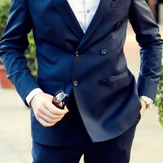 PIETER PETROS    NAVY I    What are your thoughts for this Sharp, double-breasted suit, #Navy1? #monday #PPsuits