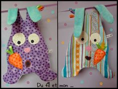 Doudou lapin Couture facile Sewing For Kids, Baby Sewing, Dou Dou, Cute Sewing Projects, Monster Dolls, Baby Couture, Baby Sandals, Cute Diys, Craft Sale