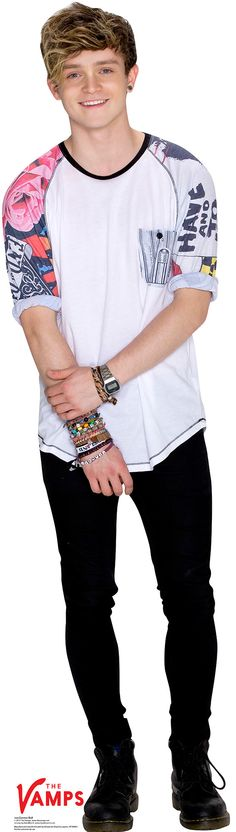 The Vamps Connor Ball Cardboard Standup