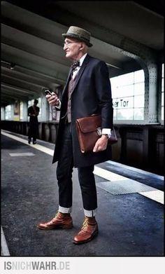 Gentlemans Berlin gunther krabbenhoft dapper gentleman in his 70 s becomes